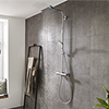 hansgrohe Crometta E Showerpipe 240 Thermostatic Shower Mixer - 27271000 profile small image view 1