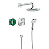 hansgrohe Croma Select E Complete Shower Set with Wall Mounted Shower Handset - 27294000 profile small image view 1