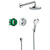 hansgrohe Croma Select S Complete Shower Set with Wall Mounted Shower Handset - 27295000 profile small image view 1