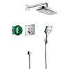 hansgrohe Raindance Select E Complete Shower Set with Wall Mounted Shower Handset - 27296000 profile small image view 1