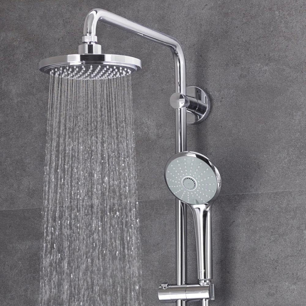 grohe euphoria 180 thermostatic shower system victorian plumbing. Black Bedroom Furniture Sets. Home Design Ideas