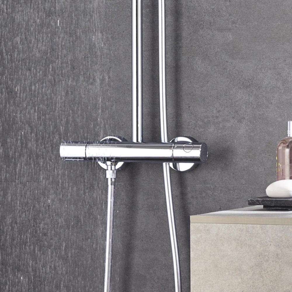 grohe euphoria 180 thermostatic shower system victorian. Black Bedroom Furniture Sets. Home Design Ideas