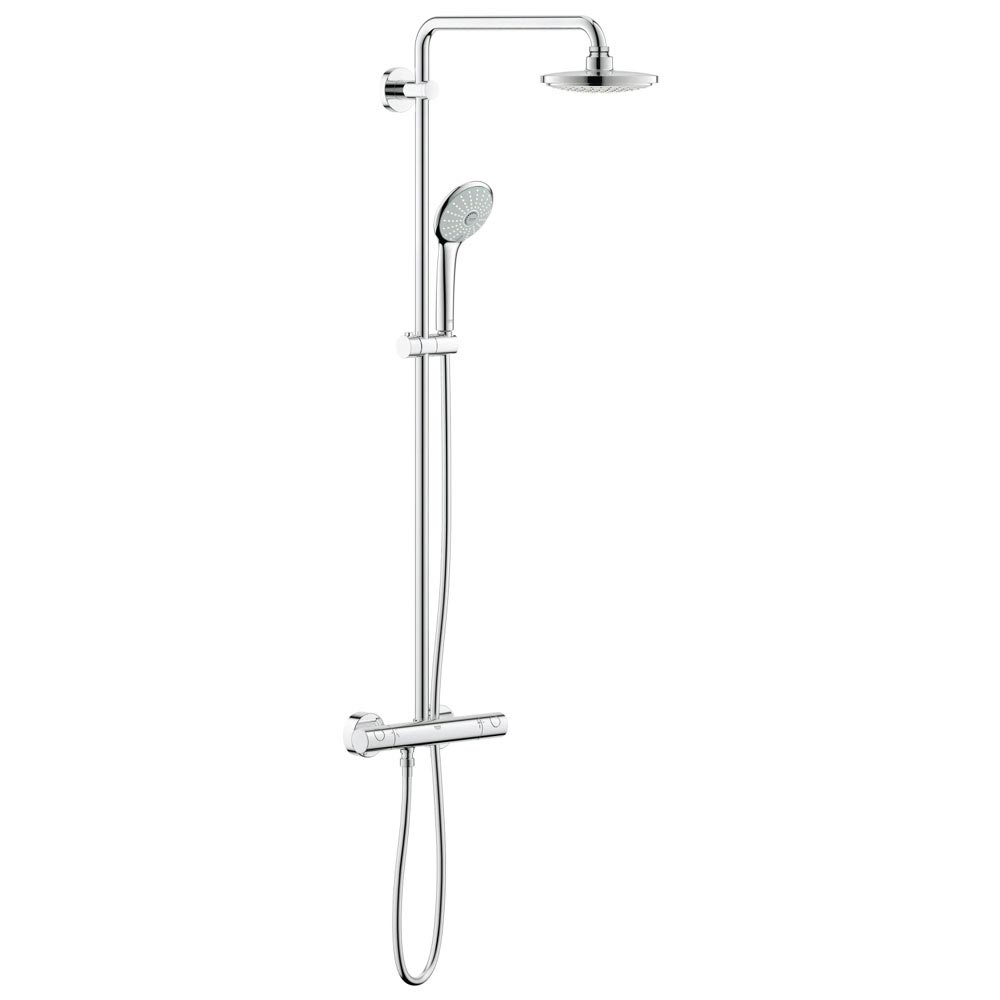 Grohe Euphoria 180 Thermostatic Shower System - 27296001 Large Image