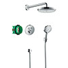 hansgrohe Raindance Select S Complete Shower Set with Wall Mounted Shower Handset - 27297000 profile small image view 1