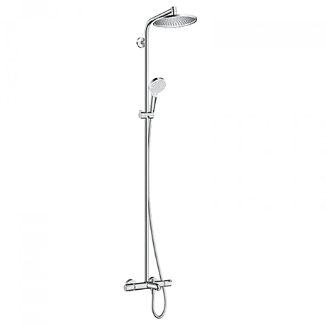 hansgrohe Crometta S Showerpipe 240 1 Jet with Thermostatic Bath Mixer - 27320000
