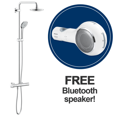 Grohe Euphoria 180 Shower System Thermostatic Shower Mixer and Kit (+ FREE Bluetooth Speaker) 274200