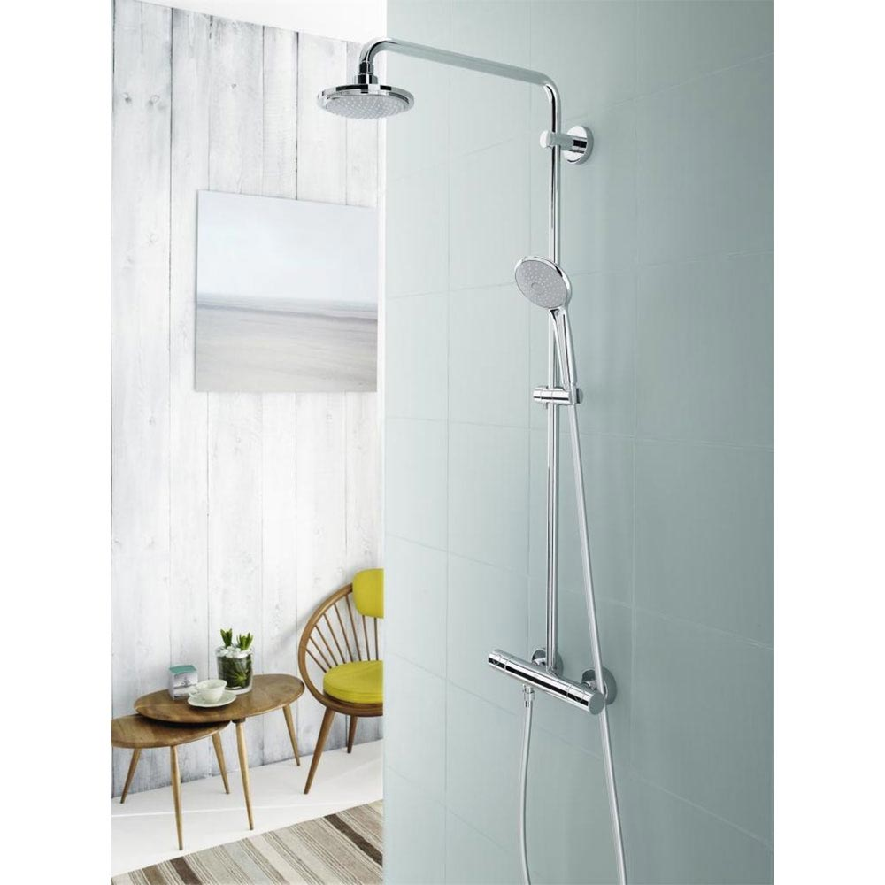 Grohe Euphoria 180 Shower System Thermostatic Shower Mixer and Kit - 27420001 Profile Large Image