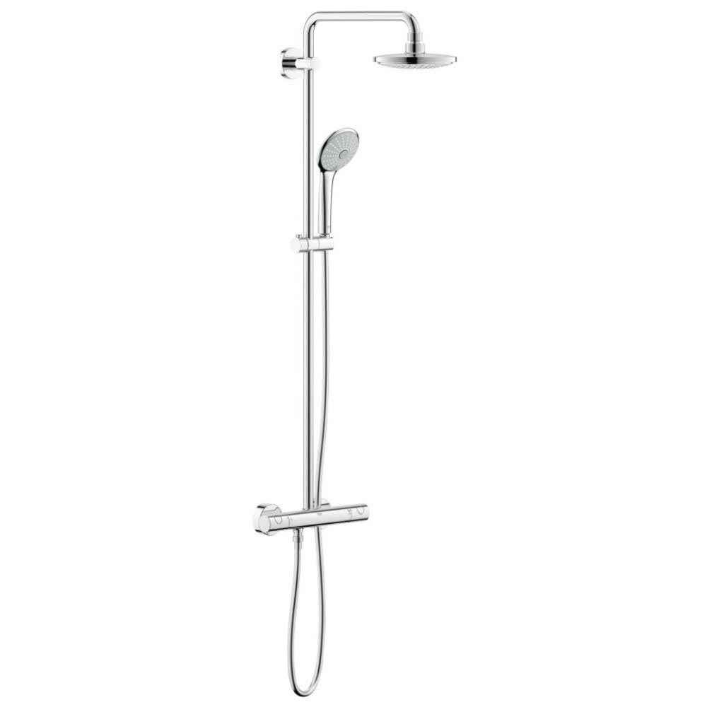 Grohe Euphoria 180 Shower System Thermostatic Shower Mixer and Kit - 27420001 Large Image