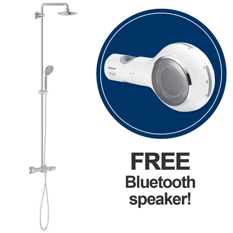 Grohe Euphoria 180 Shower System Thermostatic Bath Mixer and Kit (+ FREE Bluetooth Speaker) 27475000