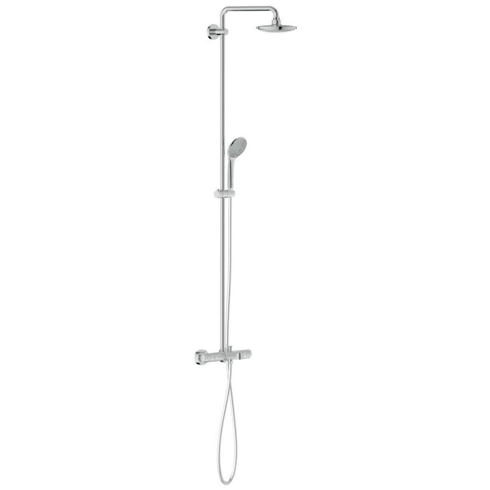 Grohe Euphoria 180 Shower System Thermostatic Bath Mixer and Kit - 27475000 Large Image