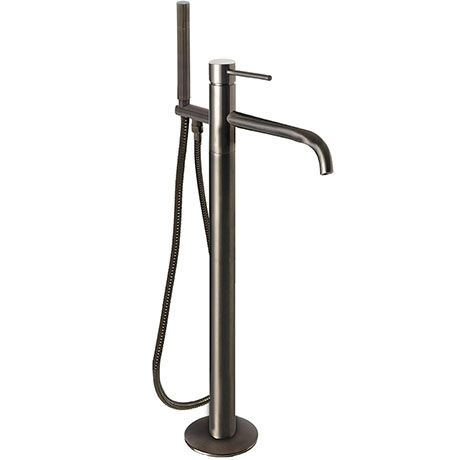 JTP Vos Brushed Black Freestanding Bath Shower Mixer