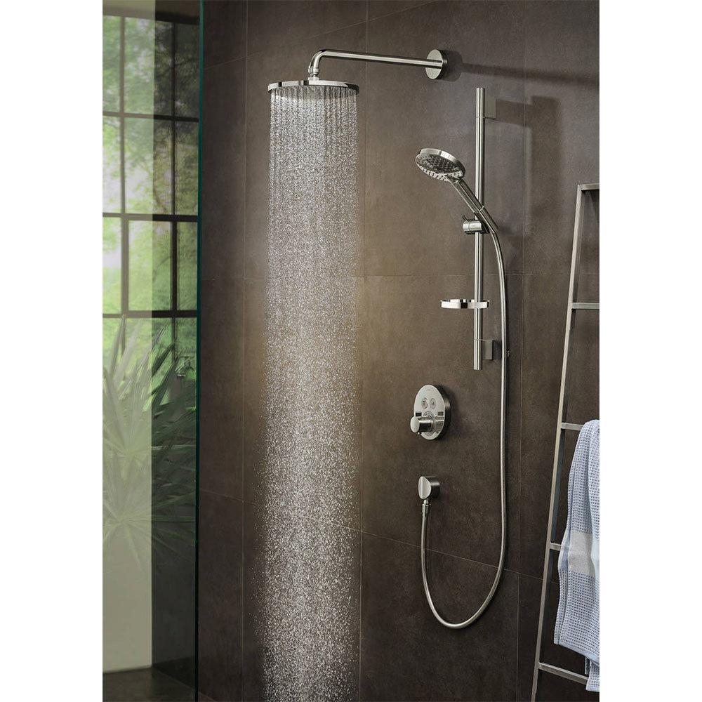hansgrohe Raindance S PowderRain 240 1-Spray Shower Head with Wall Mounted Arm - 27607000
