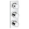 Grohe Grohtherm F Triple Volume Control Trim - 27625000 profile small image view 1