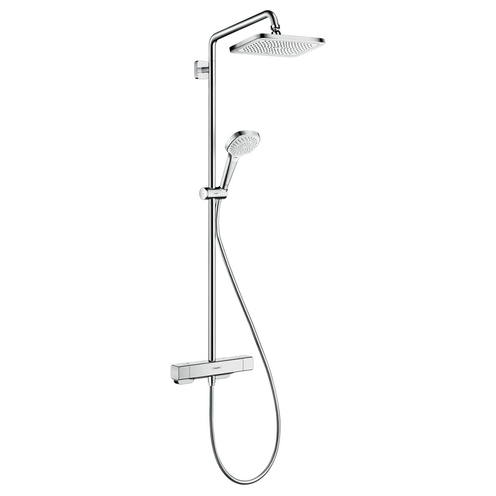 hansgrohe Croma E Showerpipe 280 EcoSmart 9 l/min Thermostatic Shower Mixer - 27660000
