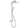 hansgrohe Croma E Showerpipe 280 Thermostatic Shower Mixer - 27630000 profile small image view 1