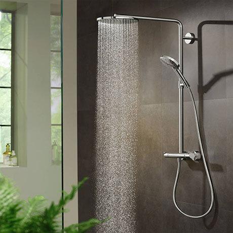 hansgrohe Raindance Select S Showerpipe 240 Thermostatic Shower Mixer - Chrome - 27633000