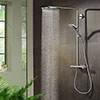 hansgrohe Raindance Select S Showerpipe 240 Thermostatic Shower Mixer - Chrome - 27633000 profile small image view 1