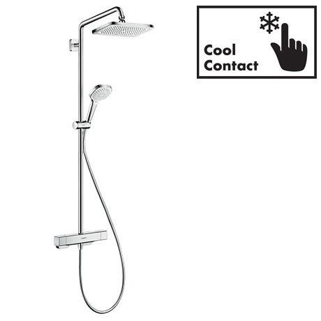 hansgrohe Croma E Showerpipe 280 EcoSmart 9 l/min Thermostatic Shower Mixer - 27660000