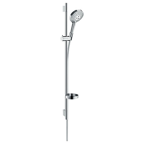 hansgrohe Raindance Select S 120 PowderRain 3-Spray 90cm Shower Slider Rail Kit with Soap Dish - 276