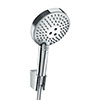 hansgrohe Raindance Select S 120 PowderRain 3-Spray Hand Shower with Holder & 1.25m Hose - 27669000 profile small image view 1