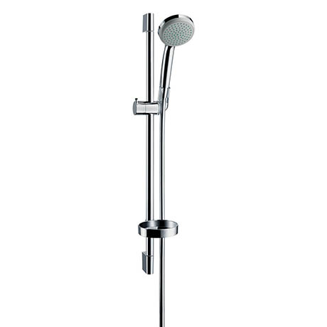 Hansgrohe Croma 1 Spray 65cm Shower Slider Rail Kit with Soap Dish - 27717000