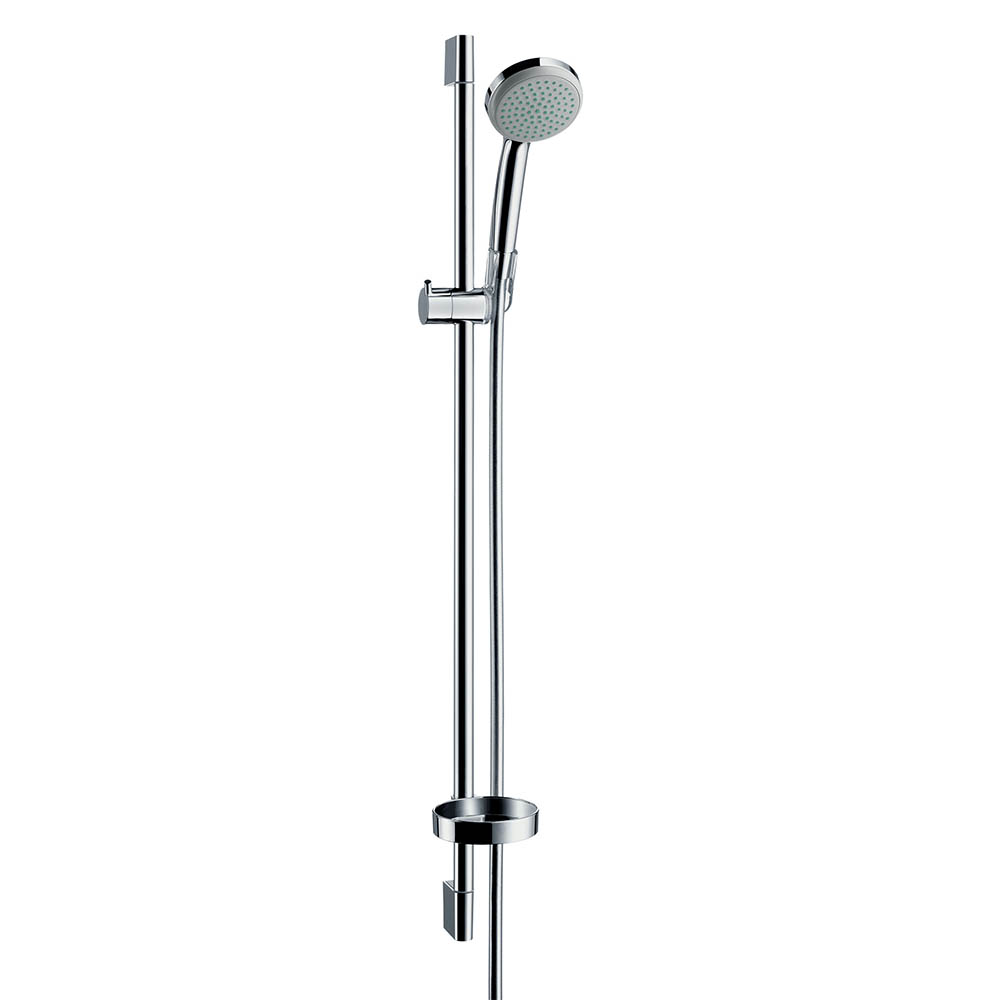 hansgrohe Croma 1 Spray 90cm Shower Slider Rail Kit with Soap Dish - 27724000
