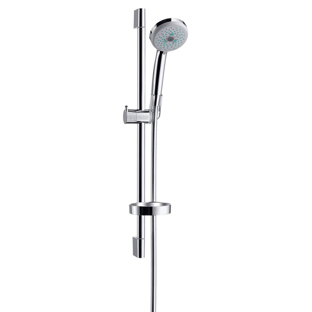 hansgrohe Croma Multi 3 Spray 65cm Shower Slider Rail Kit with Soap Dish - 27775000