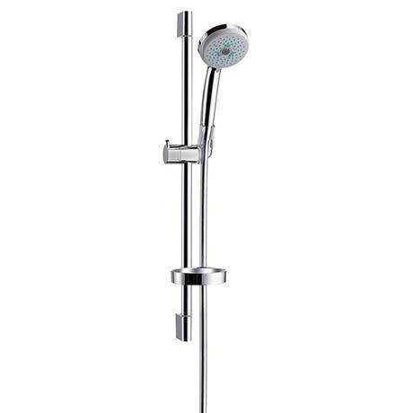 Hansgrohe Croma Multi 3 Spray 65cm Shower Slider Rail Kit with Soap Dish - 27775000