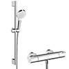 hansgrohe Crometta Vario Thermostatic Shower System with 65cm Shower Slider Rail Kit - 27812400 profile small image view 1