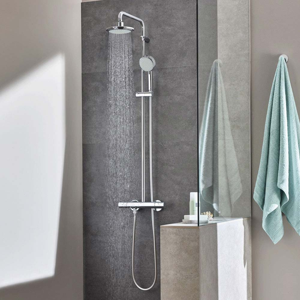 grohe new tempesta cosmopolitan 160 shower system. Black Bedroom Furniture Sets. Home Design Ideas