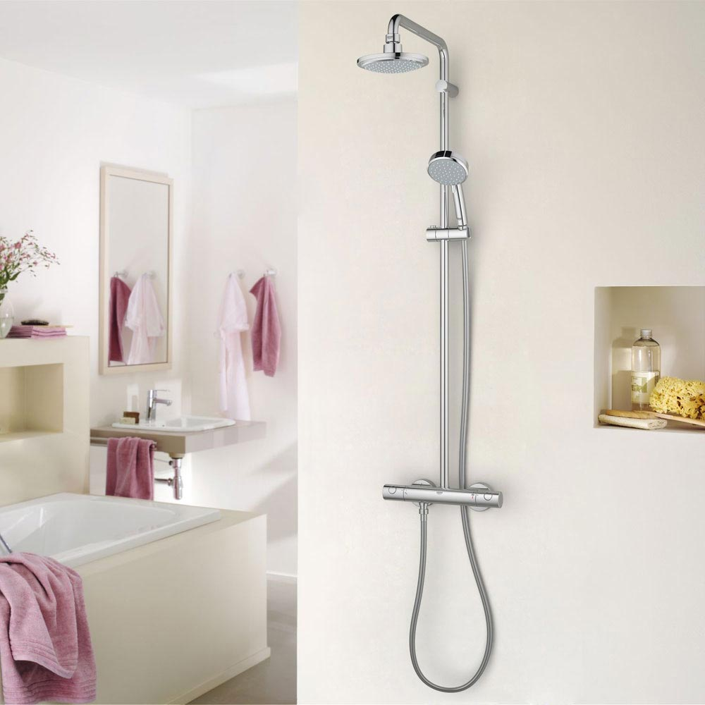 Grohe New Tempesta Cosmopolitan 160 Thermostatic Shower System - 27922000 profile large image view 6