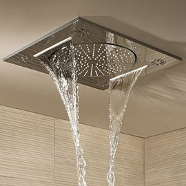 """Grohe Rainshower F-Series 15"""" Ceiling Head Shower with 3 Spray Patterns - 27939001"""