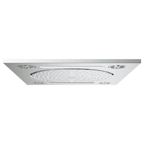 "Grohe Rainshower F-Series 15"" Ceiling Head Shower with 3 Spray Patterns - 27939001"