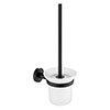 JTP Vos Matt Black Toilet Brush & Holder profile small image view 1