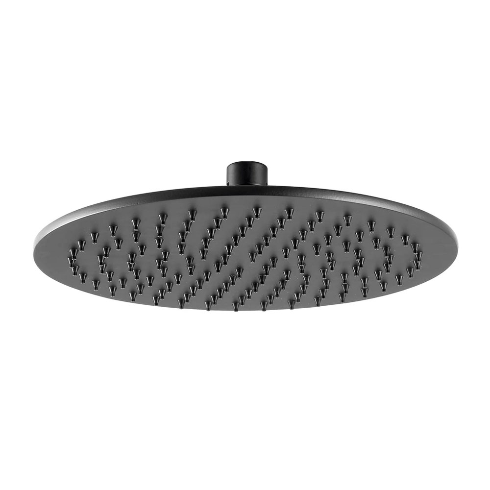 JTP Vos Matt Black 250mm Round Shower Head