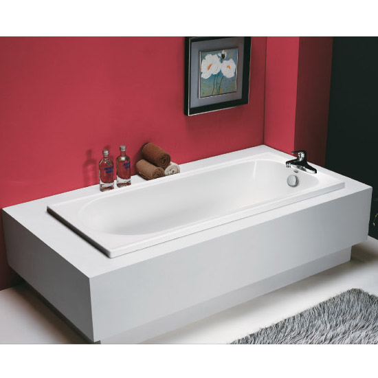 Tribune 1600 x 700 Acrylic Bath Tub with Support Frame Large Image