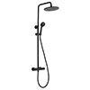 JTP Vos Matt Black Thermostatic Shower - 2852819MB profile small image view 1