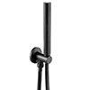 JTP Vos Matt Black Outlet Elbow with Parking Bracket, Hose & Handset profile small image view 1