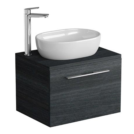 Tissino Angelo 600mm Wall Hung Unit + Countertop Basin - Barossa Oak