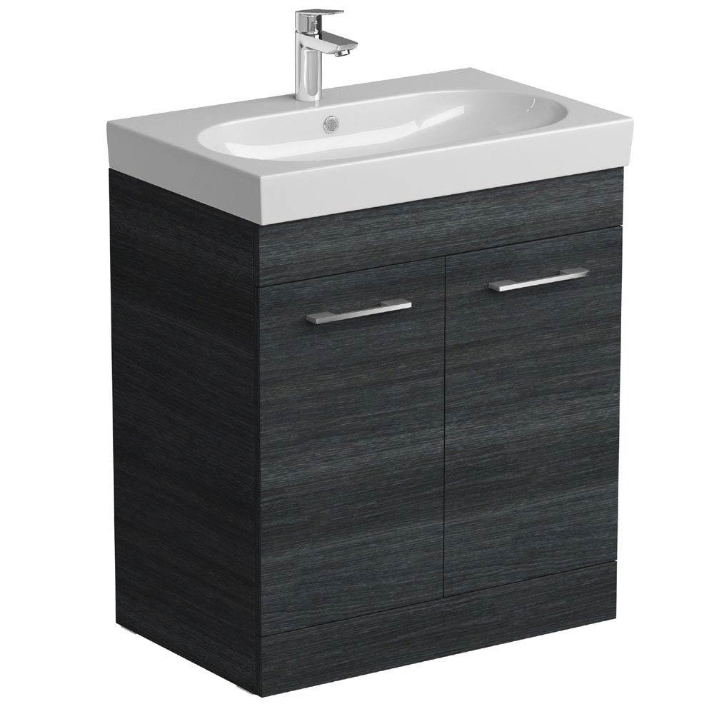 Tissino Angelo 700mm Floor Mounted Washbasin Unit - Barossa Oak Large Image