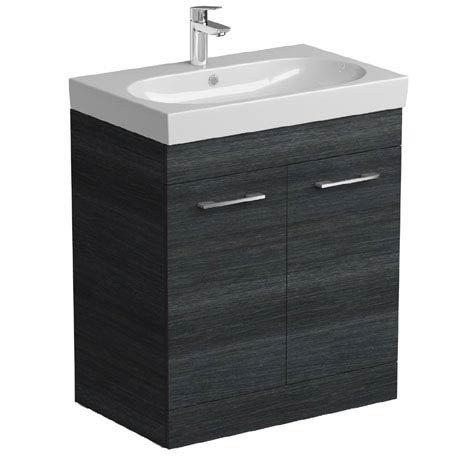 Tissino Angelo 700mm Floor Mounted Washbasin Unit - Barossa Oak