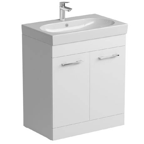 Tissino Angelo 700mm Floor Mounted Washbasin Unit - Gloss White