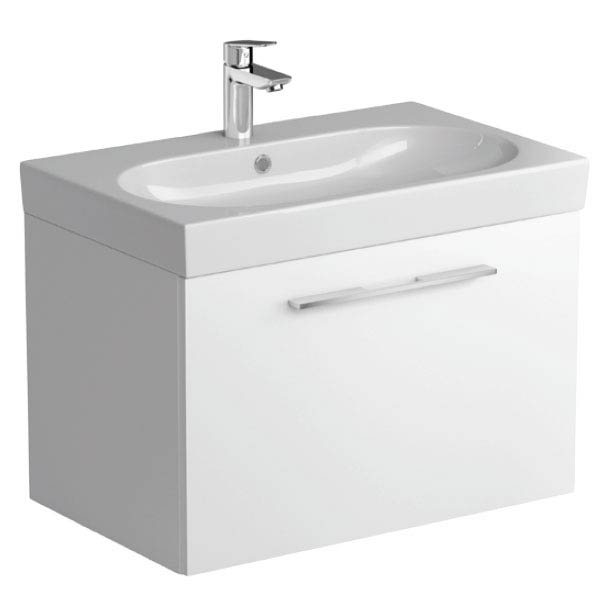 Tissino Angelo 700mm Wall Hung Washbasin Unit - Gloss White profile large image view 1