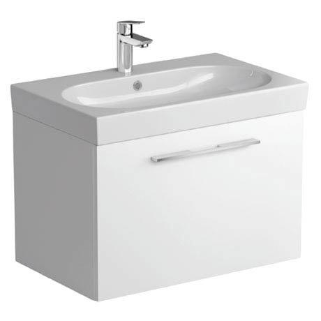 Tissino Angelo 700mm Wall Hung Washbasin Unit - Gloss White