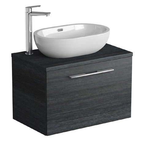 Tissino Angelo 700mm Wall Hung Unit + Countertop Basin - Barossa Oak
