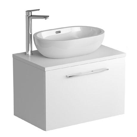 Tissino Angelo 700mm Wall Hung Unit + Countertop Basin - Gloss White