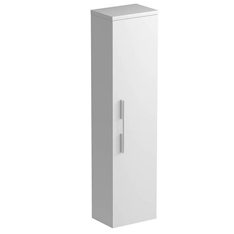 Tissino Angelo 1400mm Wall Hung Side Unit - Gloss White