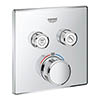 Grohe Grohtherm SmartControl Thermostat Square 2 Outlet Concealed Mixer Trim - 29124000 profile small image view 1