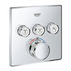 Grohe Grohtherm SmartControl Thermostat Square 3 Outlet Concealed Mixer Trim - 29126000 profile small image view 1