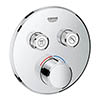 Grohe SmartControl Round 2 Outlet Concealed Mixer Trim - 29145000 profile small image view 1